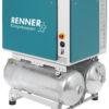 RIKO 700/2x90 S mit 2x90 L. Behälter - stationärer, liegender Kolbenkompressor inkl. Schalldämmbox für industrielle Anwendungen